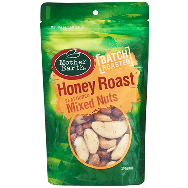 Mother Earth Batch Roasted Honey Roast Flavoured Mixed Nuts 150g
