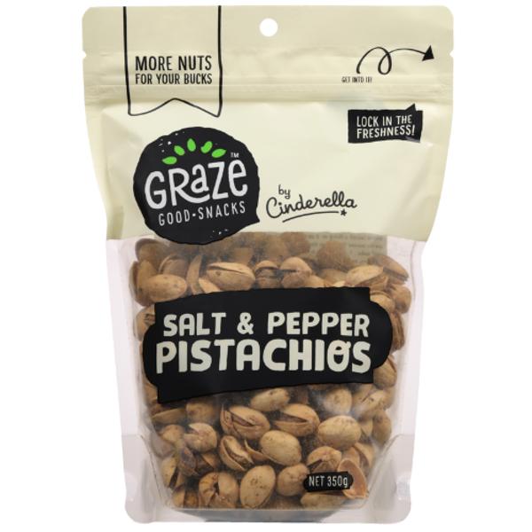 Graze Salt & Pepper Pistachios 350g