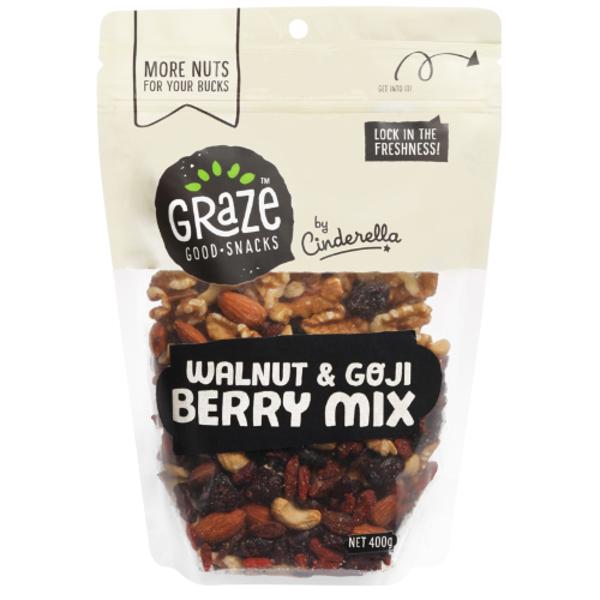Graze Walnut & Goji Berry Mix 400g