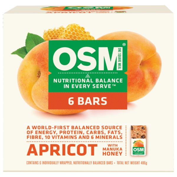 One Square Meal Apricot With Manuka Honey Bars 6pk