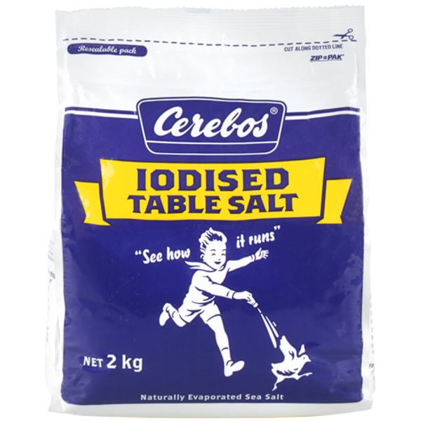 Cerebos Iodised Table Salt Seasoning 2kg