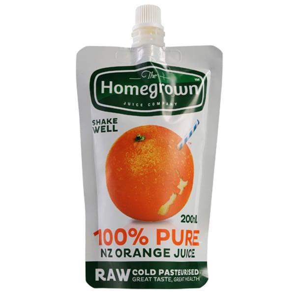 The Homegrown Juice Company 100% Orange Juice 200ml