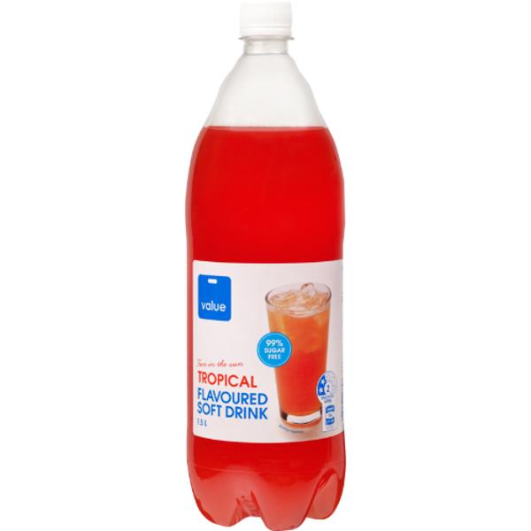 Value Tropical 99% Sugar Free Soft Drink 1.5l