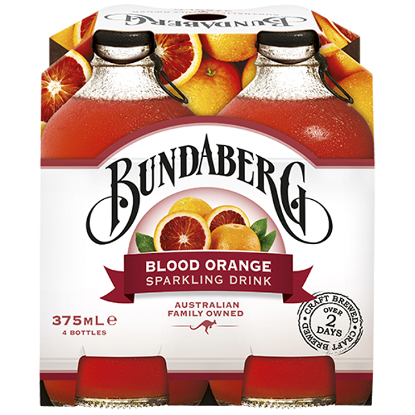 Bundaberg Blood Orange Sparkling Drink 4pk