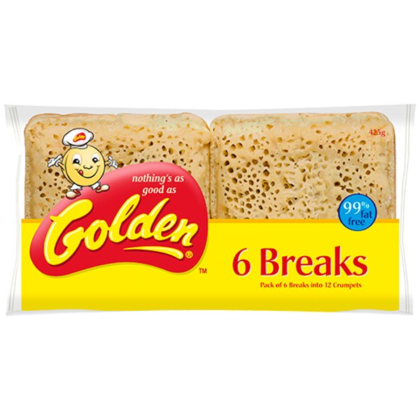 Golden Crumpet Breaks 6ea