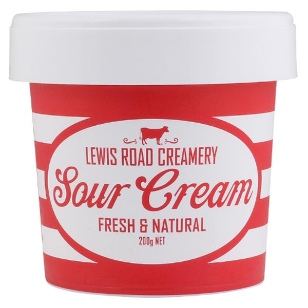 Lewis Road Creamery Fresh & Natural Sour Cream 200g