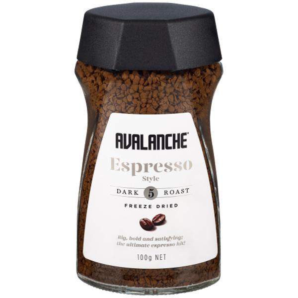 Avalanche Coffee Espresso Freeze Dried 100g