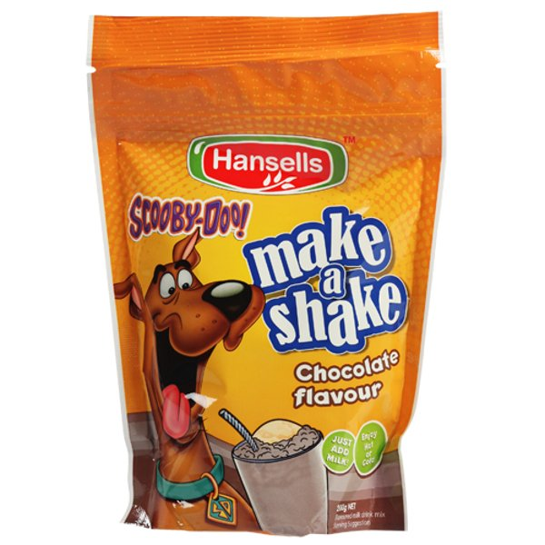 Hansells Scooby-Doo Make A Shake Milk Chocolate 200g
