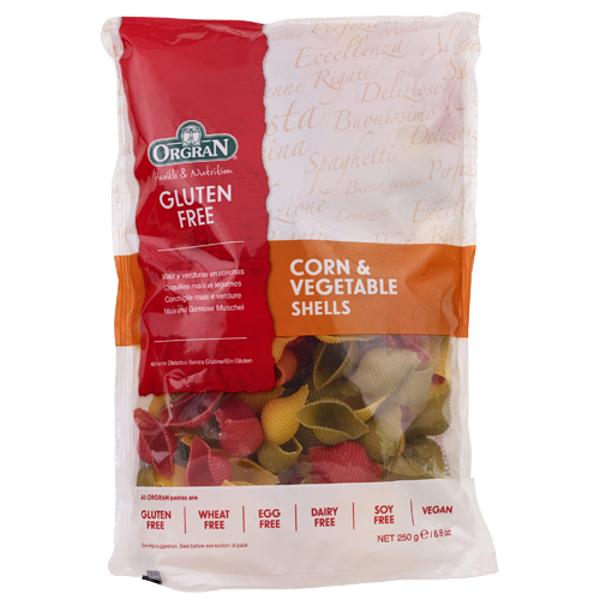 Orgran Gluten Free Corn & Vegetable Shells 250g