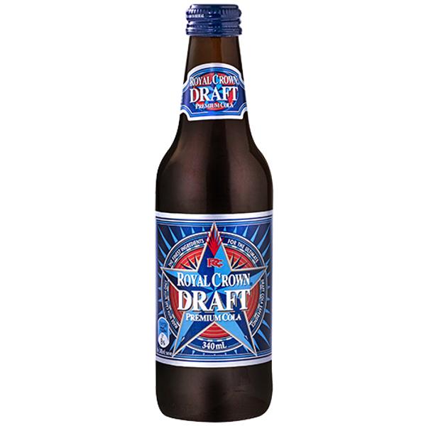 Royal Crown Draft Soft Drink Premium Cola 340ml