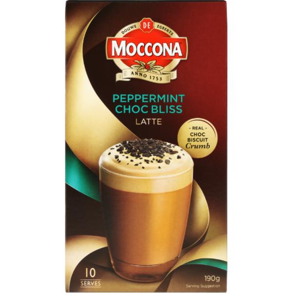 Moccona Peppermint Choc Bliss Latte Sachets 10ea