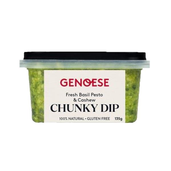 Genoese Chunky Fresh Basil Pesto & Cashew Dip 135g