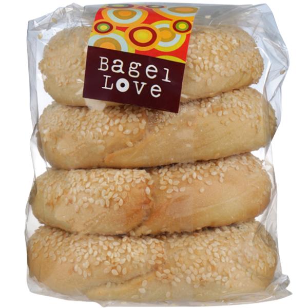 Bagel Love Sesame Bagels 4ea
