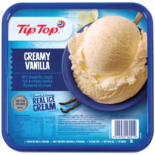 Tip Top Vanilla Ice Cream 2l