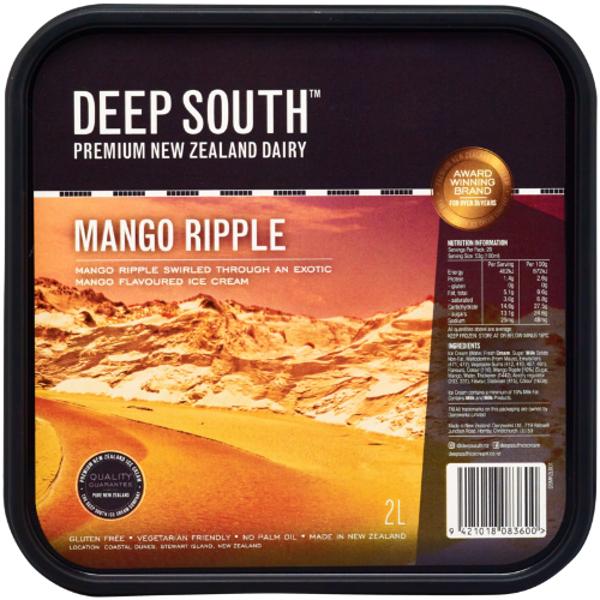 Deep South Mango Ripple Ice Cream 2l