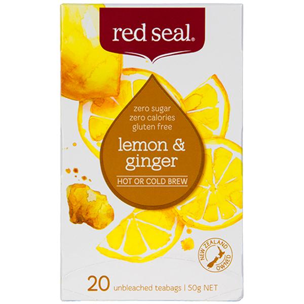Red Seal Lemon & Ginger Tea Bags 20ea