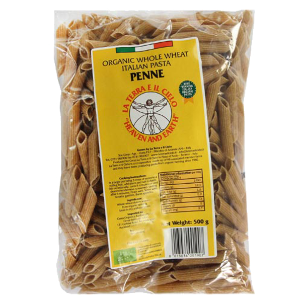 La Terra E Il Cielo Organic Whole Wheat Pasta Penne 500g
