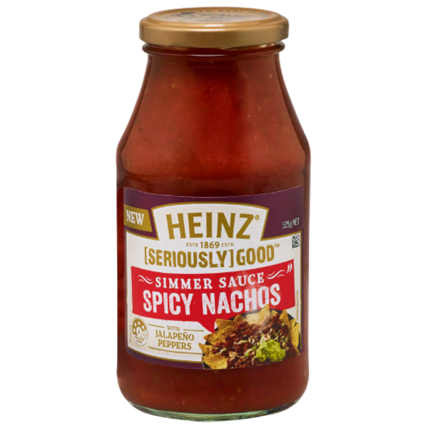 Heinz Seriously Good Spicy Nachos Simmer Sauce With Jalapeno Peppers 525g