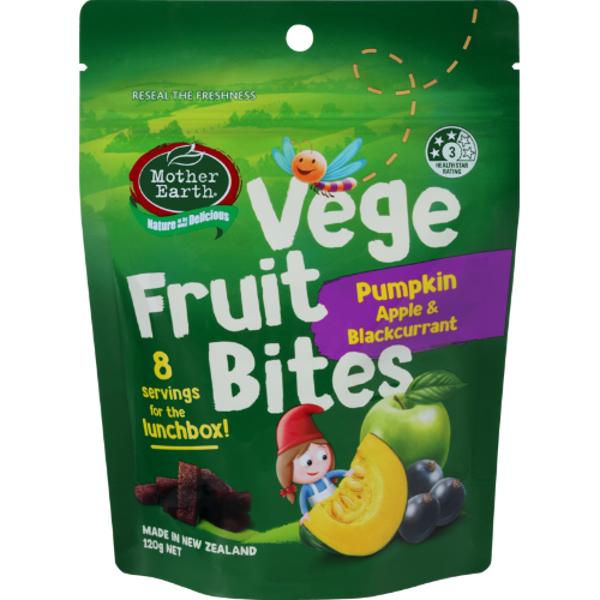 Mother Earth Pumpkin Apple & Blackcurrant Vege Fruit Bites 120g