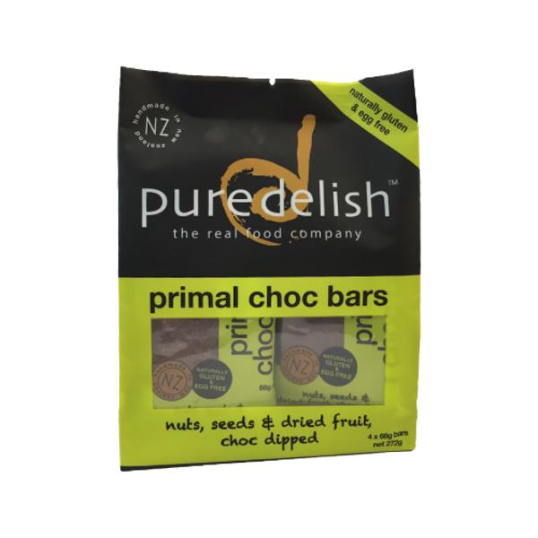 Pure Delish Primal Choc Bar 4pk