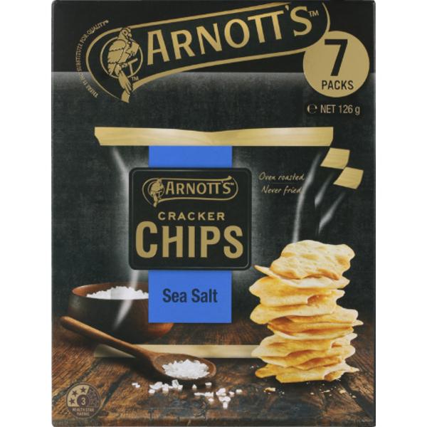 Arnott's Sea Salt Cracker Chips Multi Pack 126g