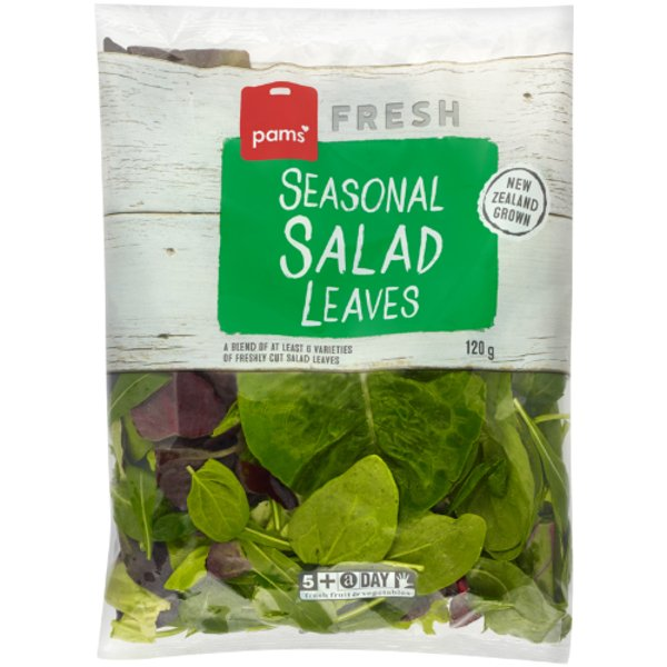 Pams Fresh Seasonal Salad Leaves 120g