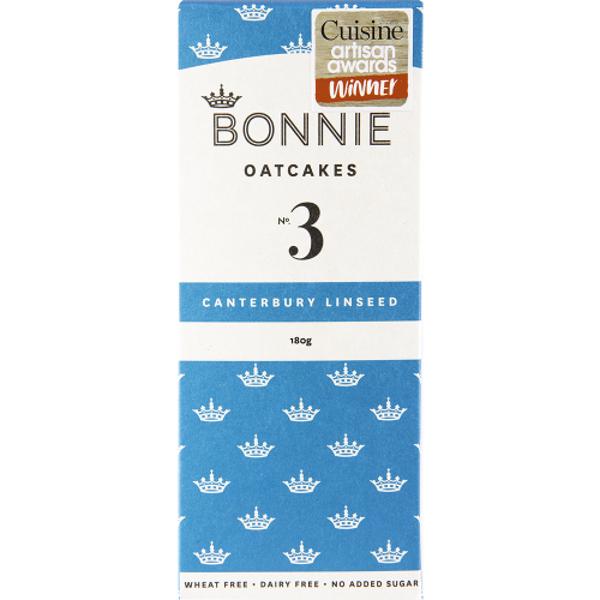 Bonnie Oatcakes Canterbury Linseed 180g