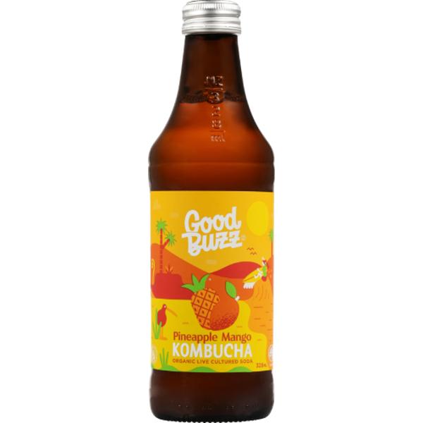Good Buzz Pineapple Mango Kombucha 328ml