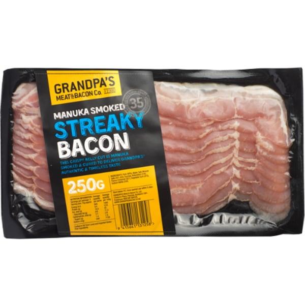Grandpa's Streaky Bacon 250g