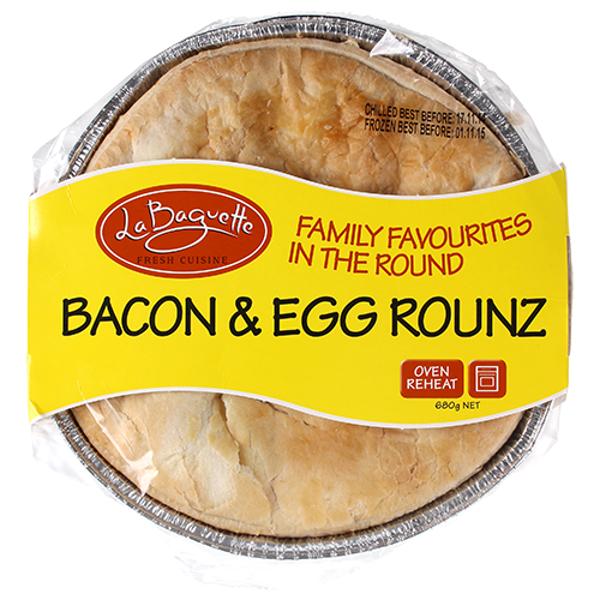 La Baguette Bacon & Egg Rounz Pie 680g