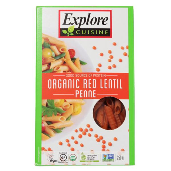Explore Cuisine Organic Red Lentil Penne 250g