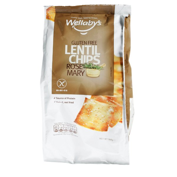 Wellaby's Gluten Free Rosemary Lentil Chips 140g