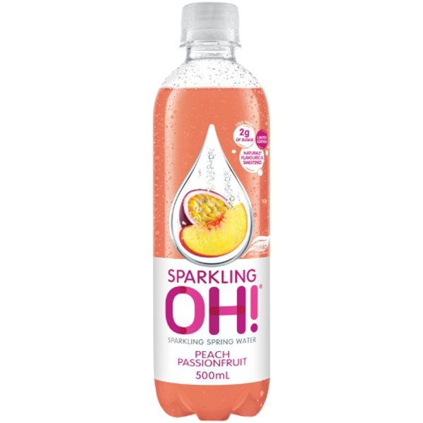 Sparkling Oh Peach Passionfruit Sparkling Spring Water 500ml