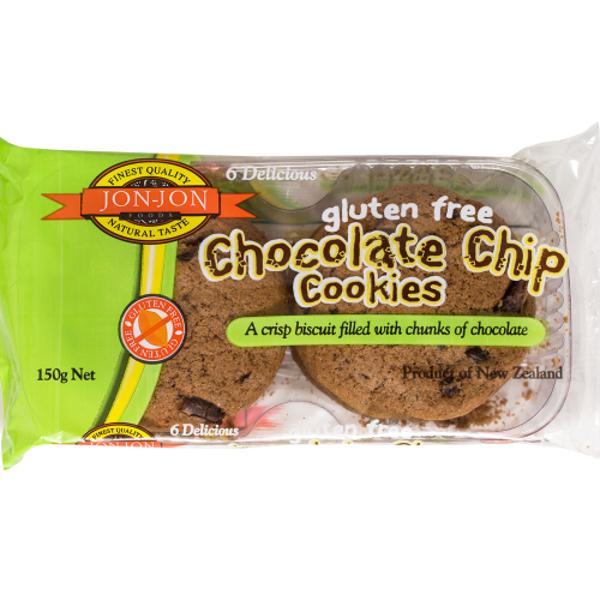 Jon-Jon Gluten Free Double Chocolate Chip Cookies 6ea