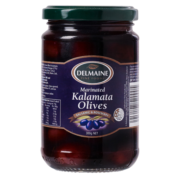 Delmaine Balsamic & Rosemary Marinated Kalamata Olives 300g