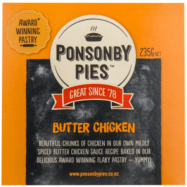 Ponsonby Pies Butter Chicken Gourmet Pie 235g