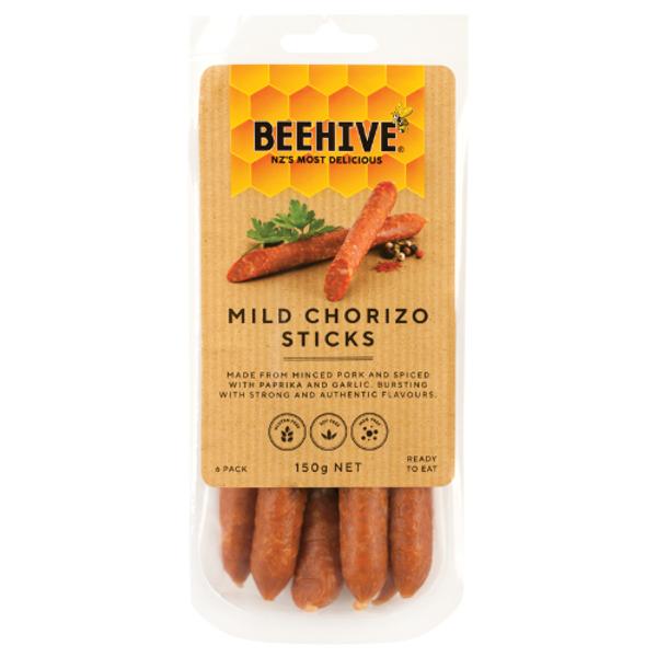 Beehive Mild Chorizo Sticks 150g
