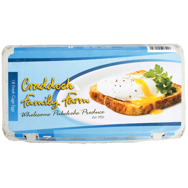 Craddock Family Farms Cage Size 7 Eggs 18ea