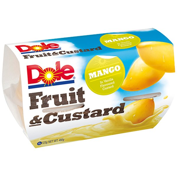 Dole Fruit & Custard Mango In Vanilla Custard 4pk