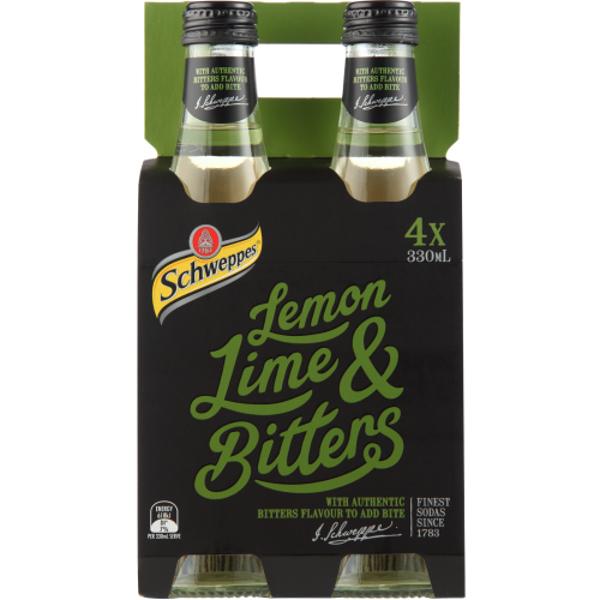 Schweppes Lemon Lime & Bitters 4pk