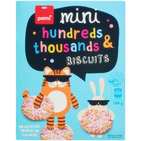 Pams Mini Hundreds & Thousands Biscuits 200g