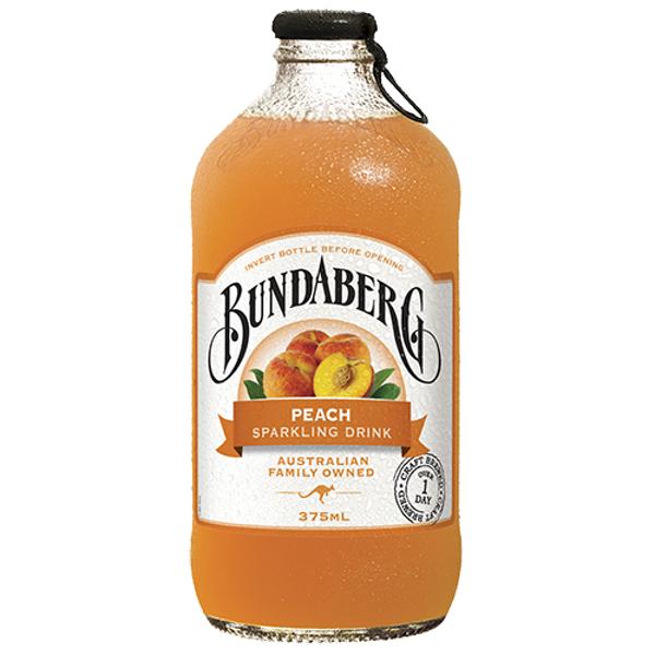 Bundaberg Peach Sparkling Drink 375ml