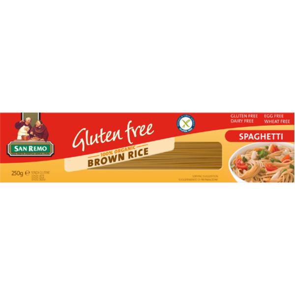 San Remo Gluten Free Brown Rice Pasta Spaghetti 250g