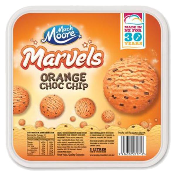 Much Moore Orange Chocolate Chip Ice Cream 2l