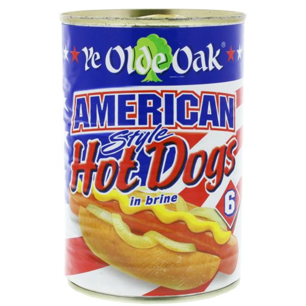 Ye Olde Oak American Style Hot Dogs In Brine 400g