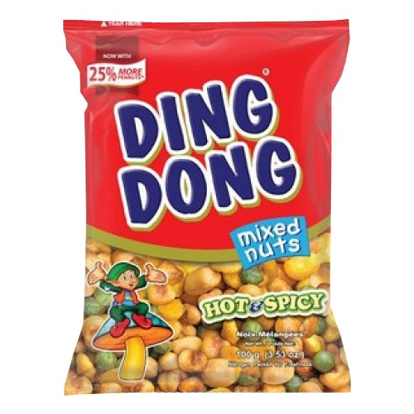 DING DONG Hot & Spicy Mixed Nuts Snack Mix 100g