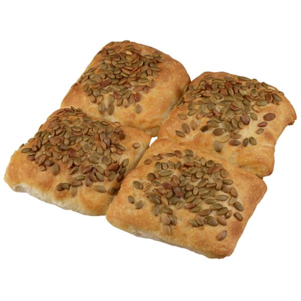 Bakery Pumpkin Seed Ciabatta Buns 4ea