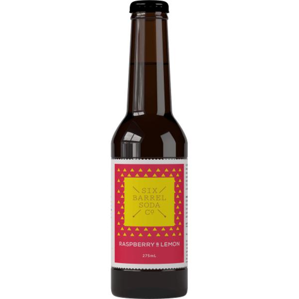 Six Barrel Soda Co Rapsberry & Lemon 330ml