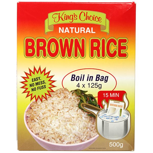 King's Choice Brown Rice Boil In Bag 500g
