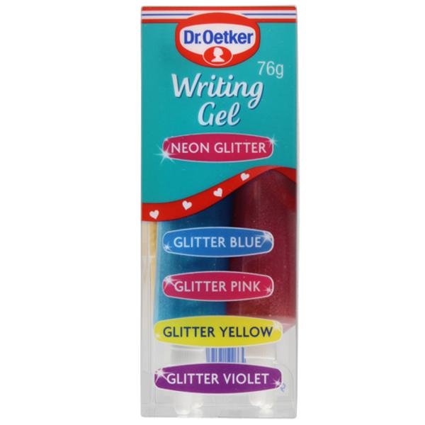 Dr. Oetker Neon Glitter Writing Gel 76g